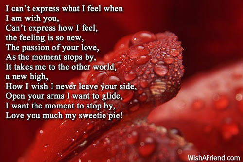 Cant Express My Love For You Romantic Poem