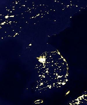Satellite picture displaying the Korean penins...