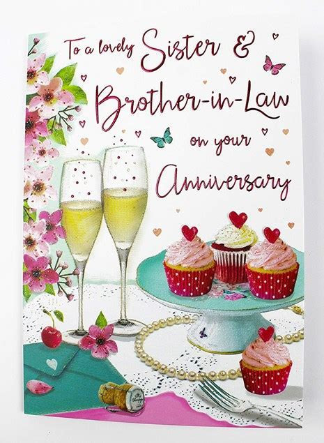 Anniversary Sister & Brother in Law Card   Champagne