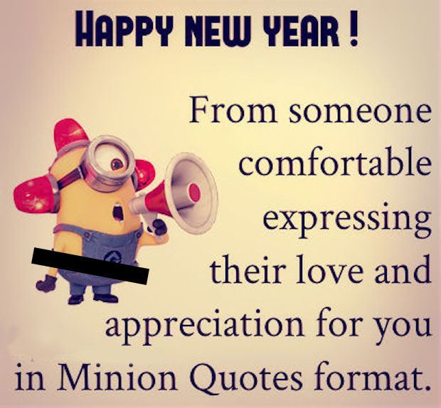 Happy New Year Minion Love Quote Pictures Photos And Images For