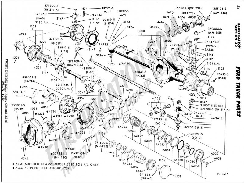 33 Ford F250 Front Suspension Diagram