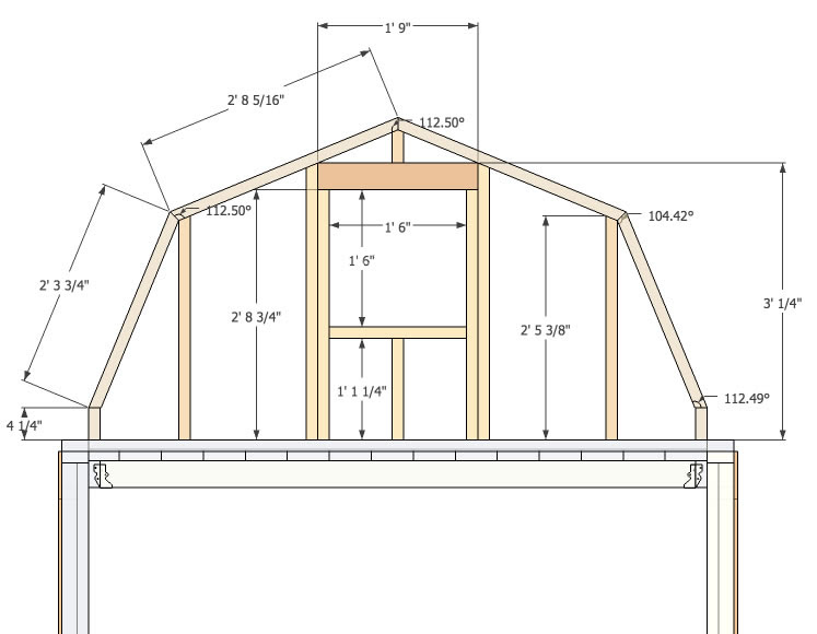 10 X 20 Gambrel Shed Plans More Shed Plans