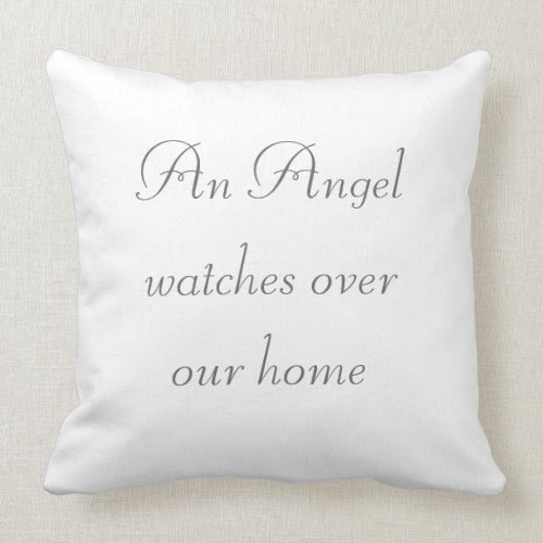 Angel Watches Home Throw Pillow mojo_throwpillow