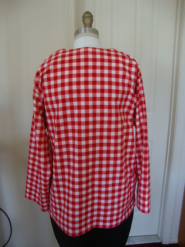 McCalls 3006 in red flannel gingham