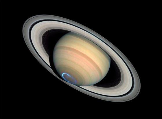 Saturno e tempestades de auroras