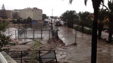 <p><em>En la foto, las graves inundaciones que tuvieron lugar en Vera (Almería) en septiembre de 2012 (FOTO: PABLO LEÓN, YOUTUBE).</em></p>