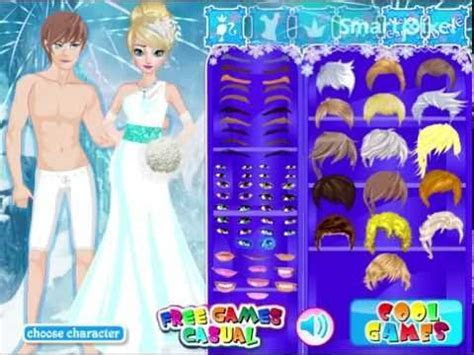 Disney Frozen's Elsa Wedding Dress Up Game   YouTube