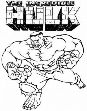 Hulk Para Colorear Imprimir Y Pintar