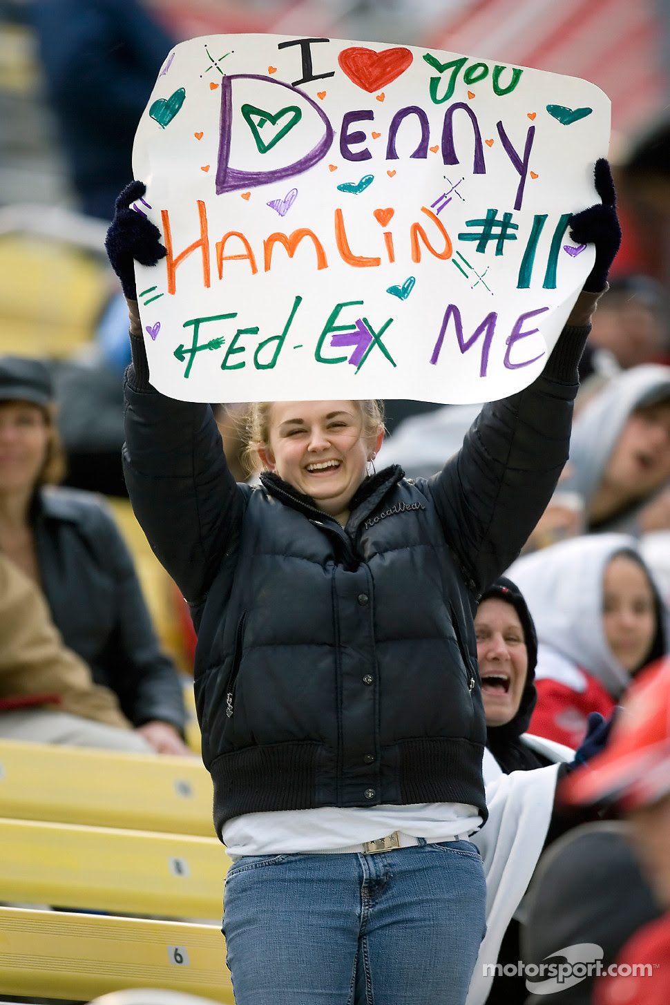 A Denny Hamlin fan shows her support