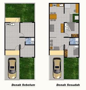 Sketsa Rumah Tipe 36