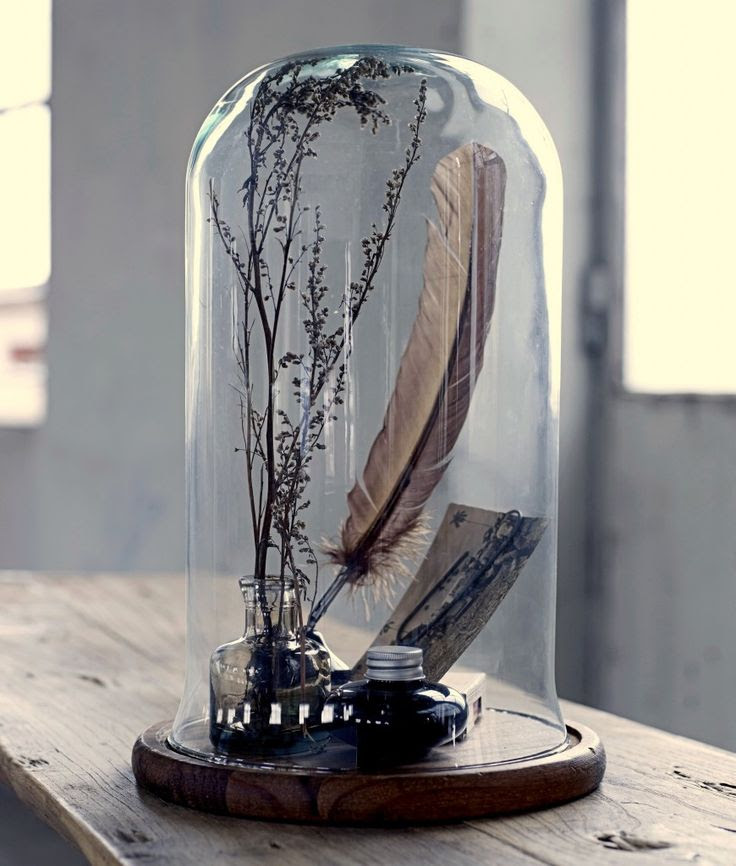 Lots of ideas for bell jars. Home-Styling