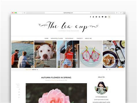 The Tea Cup   Wordpress blog theme ~ WordPress Blog Themes