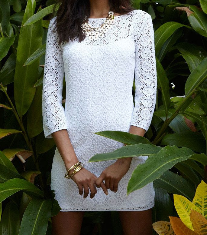 Lilly Pulitzer Resort '13- Topanga Dress in Resort White Breakers Lace
