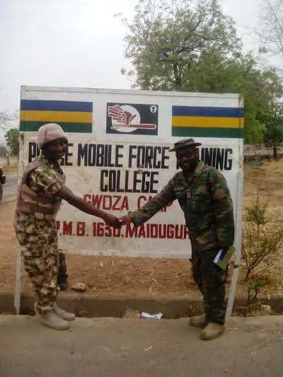 Pics Of Nigerian Soldiers Jubilating After Liberating Gwoza From Boko Haram Toda -