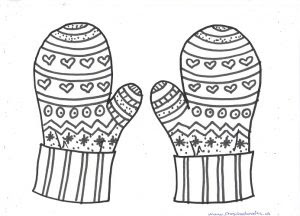 free printable winter mittens mandala coloring pages for kids  preschool crafts