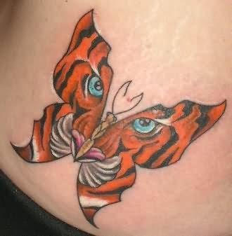 Cool Tiger Butterfly Tattoo Design Tattoomagz