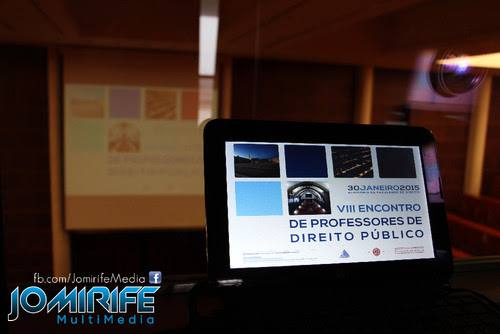 Realização audiovisual e registo fotográfico da conferência VIII Encontro de professores de Direito Publico [en] Audiovisual and photogarphy of the conference VIII Meeting of Public Law Teachers