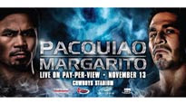 Pacquiao v Margarito presale code for event tickets in Arlington, TX
