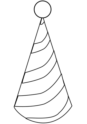 party hat 3 coloring page