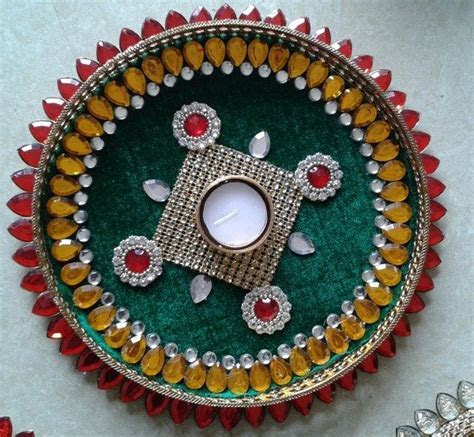 17 Best images about aarti thali decorations on Pinterest