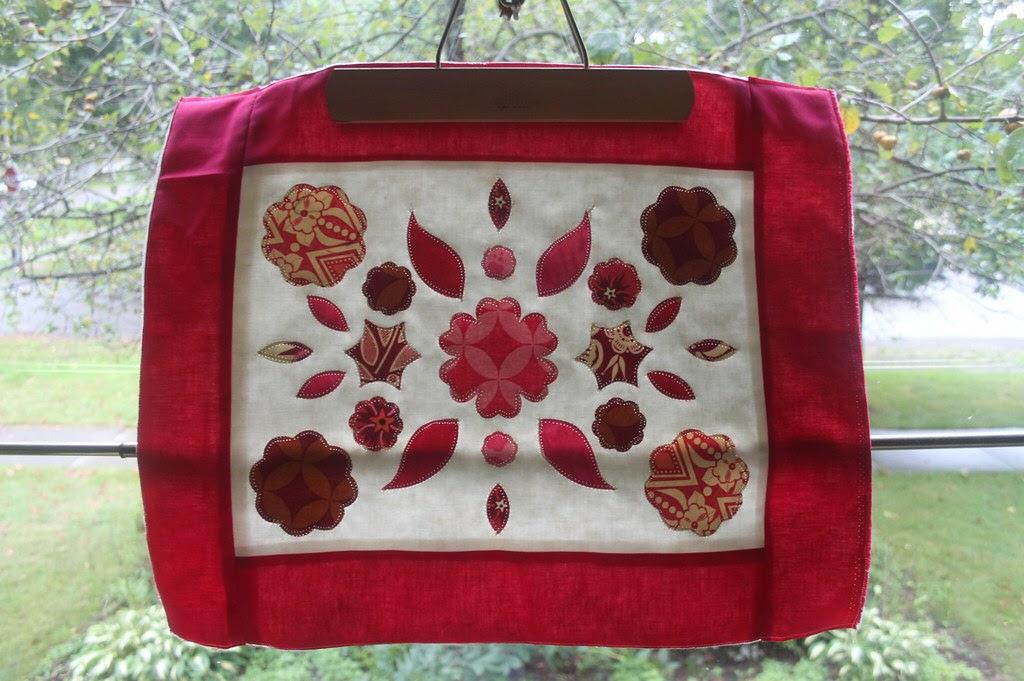 raspberry garden quilt block