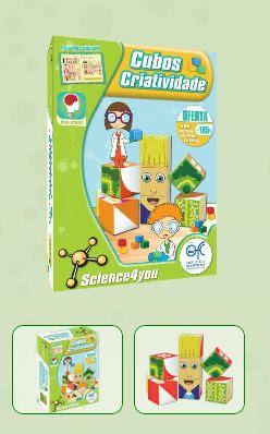 CUBOS - CRIATIVIDADE  Descobre: - Como construir labirintos - Como memorizar puzzles com diferentes caras - Como construir figuras com as formas geométricas  - Como é divertido exercitares a tua criatividade