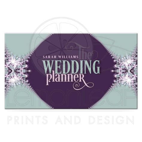 Sparkle Lace Wedding Planner Business Card