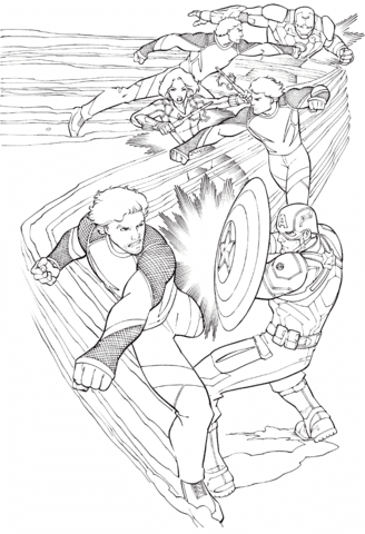 avengers quicksilver coloring page  free printable coloring pages