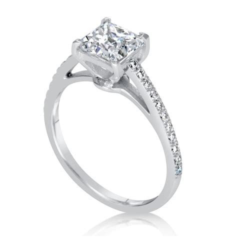 1.51 Carat Princess Cut Diamond Engagement Ring   Ara Diamonds
