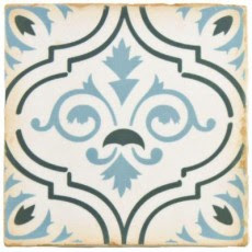 Archivo Fleur De Lis 4-7/8 in. x 4-7/8 in. Ceramic Floor and Wall Tile (5.9 sq. ft. / case) $47.02
