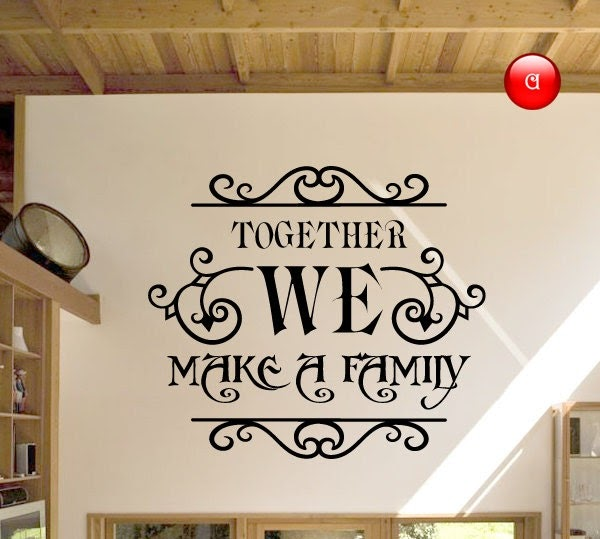 Art home decals wall murals family wall decals quotes for Wall mural quotes