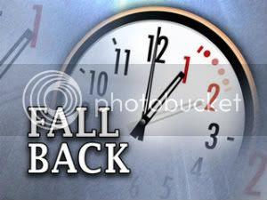 Fall Back, Daylight Savings Ends