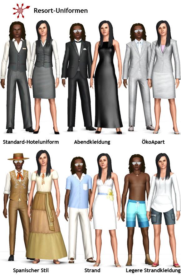 Sims 3 Resort Managen Personal Einstellen Und Einkleiden