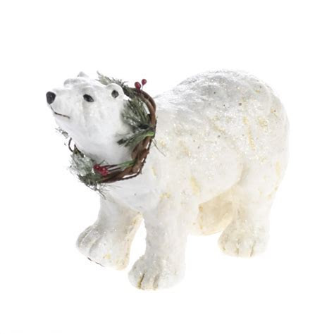 Old Fashioned Polar Bear Figurine   Table Decor   Home Decor