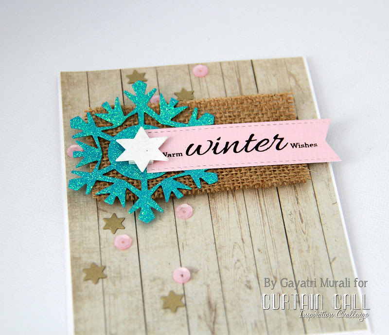 Warm Winter Wishes close up!
