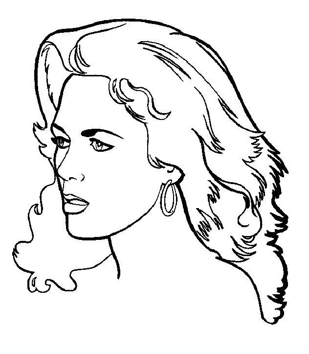 Disegni Di Donna Da Colorare E Stampare