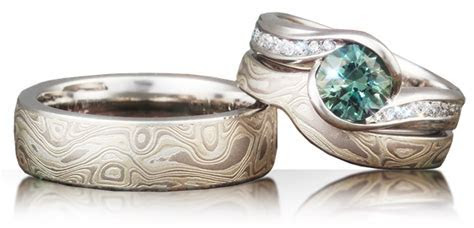 Mokume Gane Rings: Alternative Luxury Wood Grain Wedding Bands