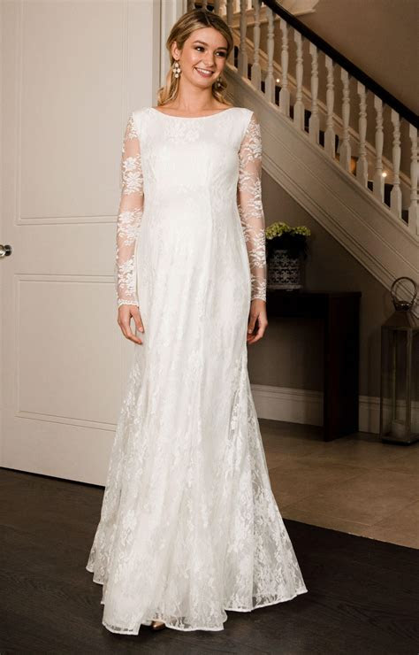 Helena Maternity Wedding Gown Long Ivory   Maternity