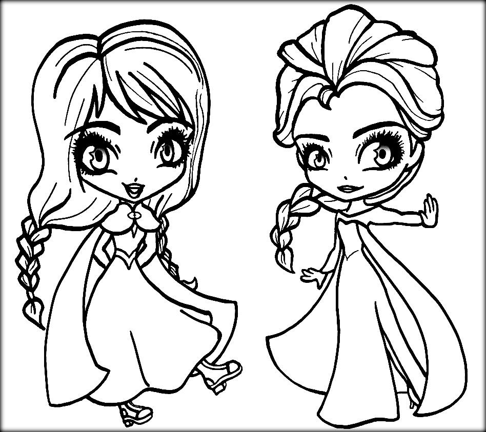 Disney Frozen Coloring Pages Anna And Elsa Coloring Home