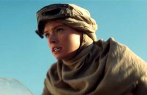 Daisy Ridley plays Rey in STAR WARS: THE FORCE AWAKENS.