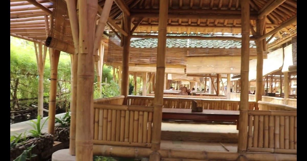 Desain Rumah Makan Lesehan Dari Bambu