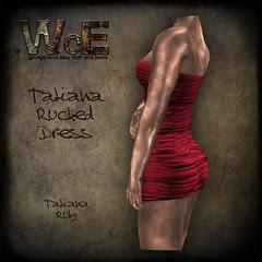 Tatiana Ruched Dress - Ruby