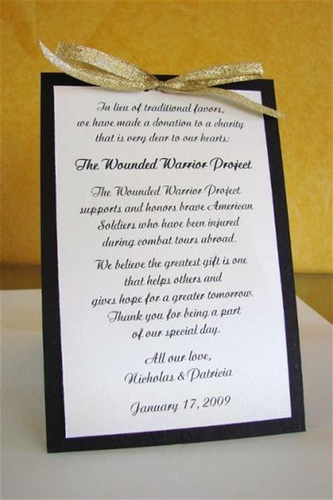 25  best ideas about Donation wedding favors on Pinterest