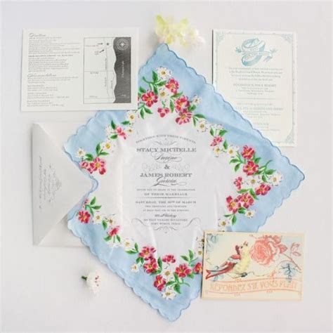 21 Charming Handkerchief Wedding Invitations For Vintage