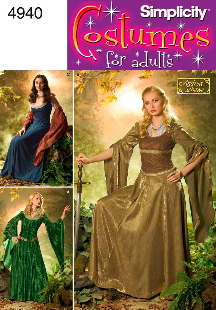Womens Costumes Costume Sewing Pattern 4940 Simplicity