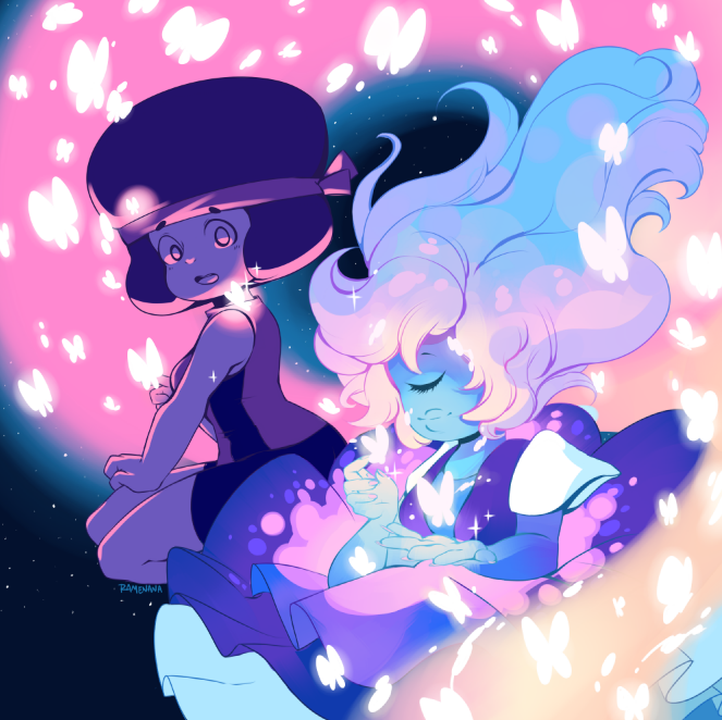 I think I went overboard with the colors but I really like how it turned out! Will be selling this print in the future!