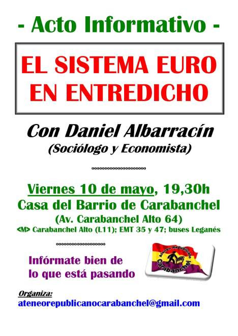 Acto Informativo - El Sistema Euro en entredicho
