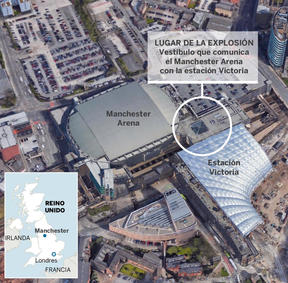 Al menos 22 muertos y más de 50 heridos en un atentado suicida en un concierto de Ariana Grande en Manchester