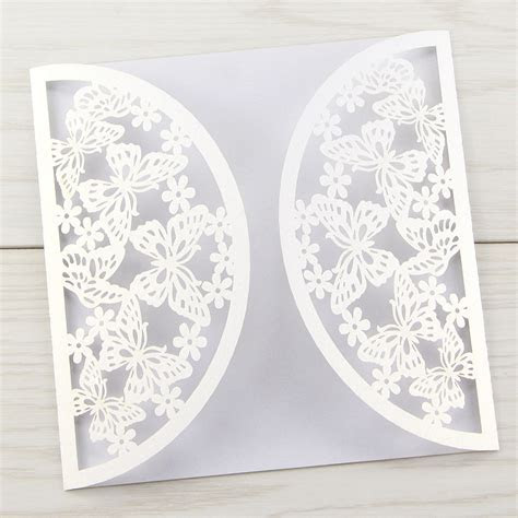 Butterfly Laser Cut Blanks   Pure Invitation Wedding Invites