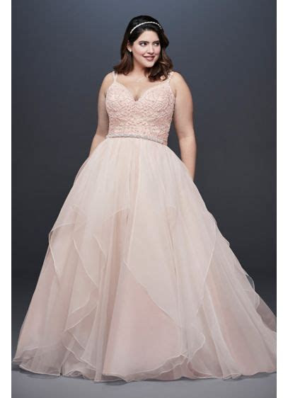No Train Garza Plus Size Ball Gown Wedding Dress   David's